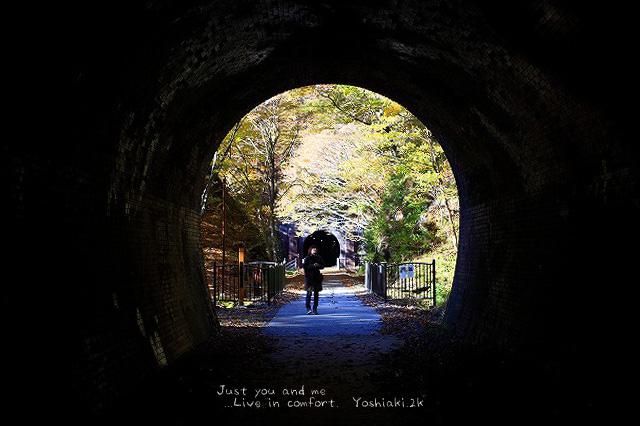 トンネルを抜けたら またトンネルがありました